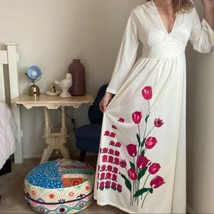 Vintage Sears floral wrap sleep robe